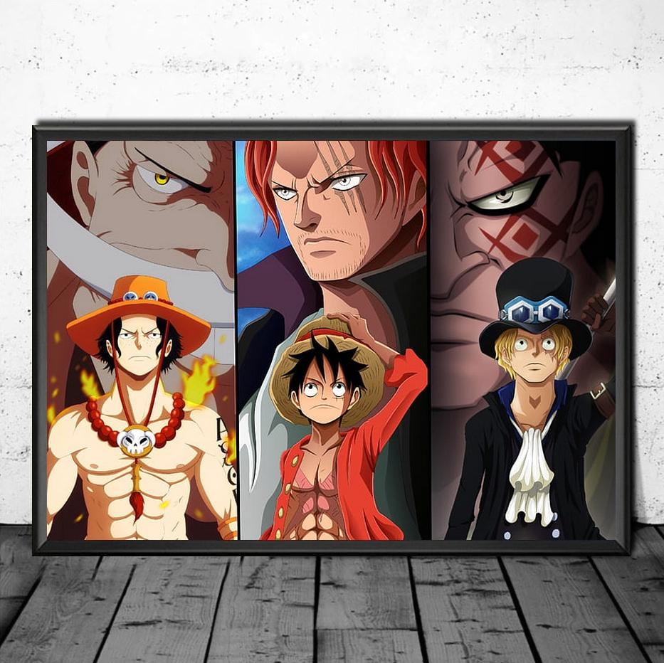 Tableau One Piece 3 Frères & Mentors