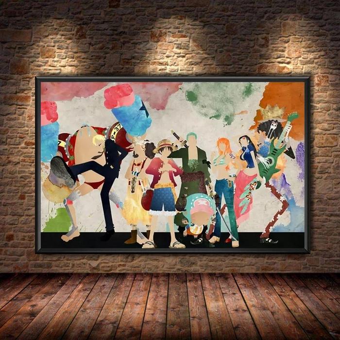 Tableau One Piece Mugiwara Aquarelle Paint