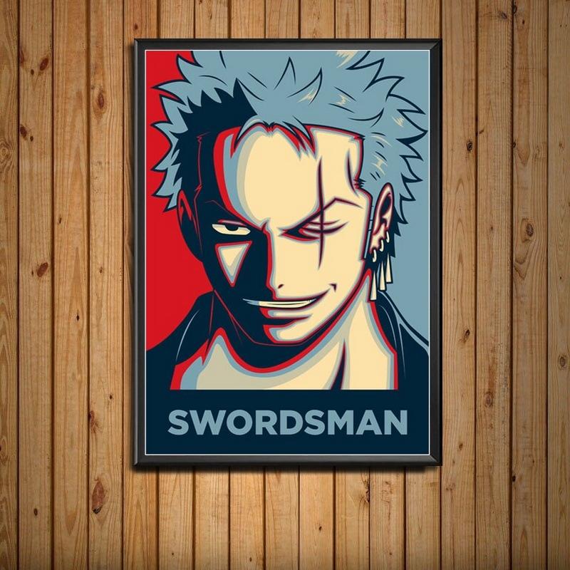Tableau One Piece Portrait Roronoa Zoro