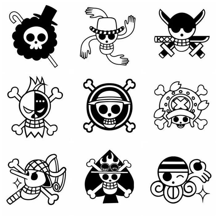 autocollant one piece jolly roger