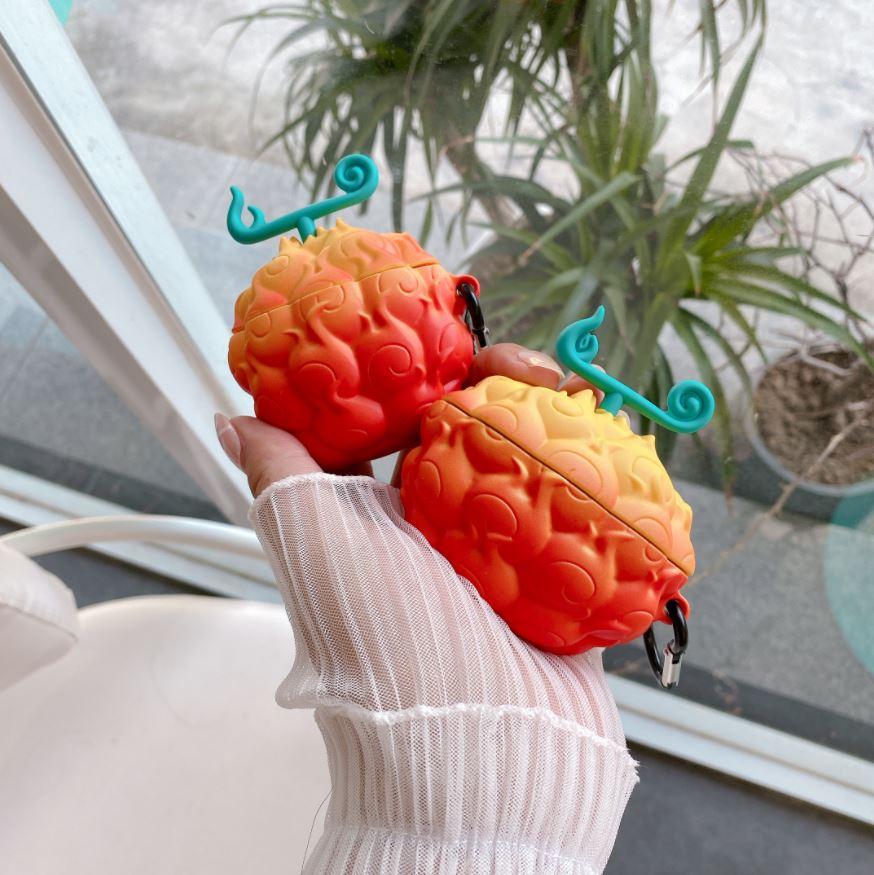 coque airpods one piece mera mera portgas ace fruit demon 1
