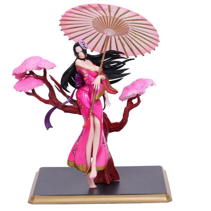 figuirne one piece boa hancock umbrella rose 3