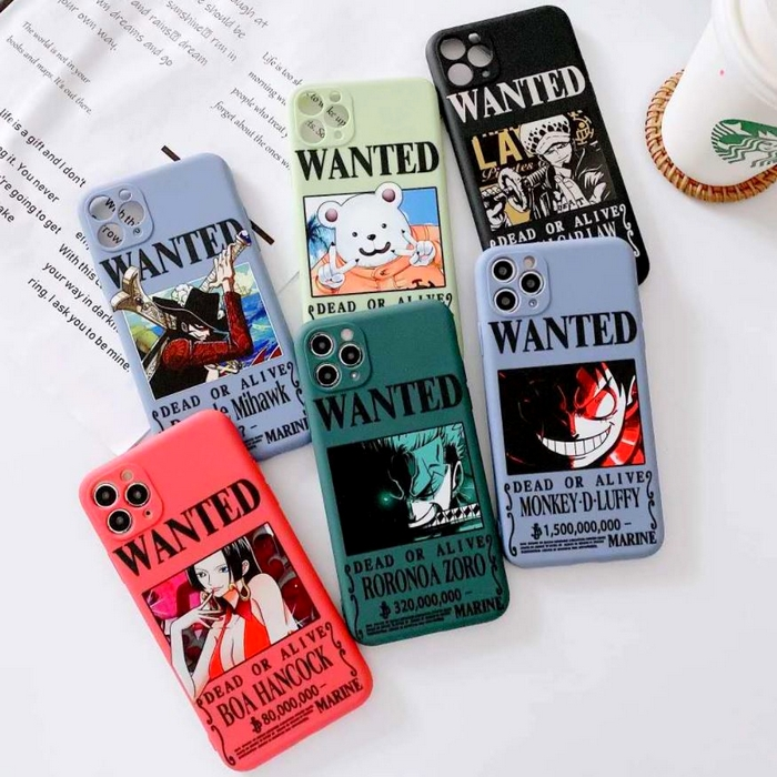 coque iphone one piece affiche wanted 1