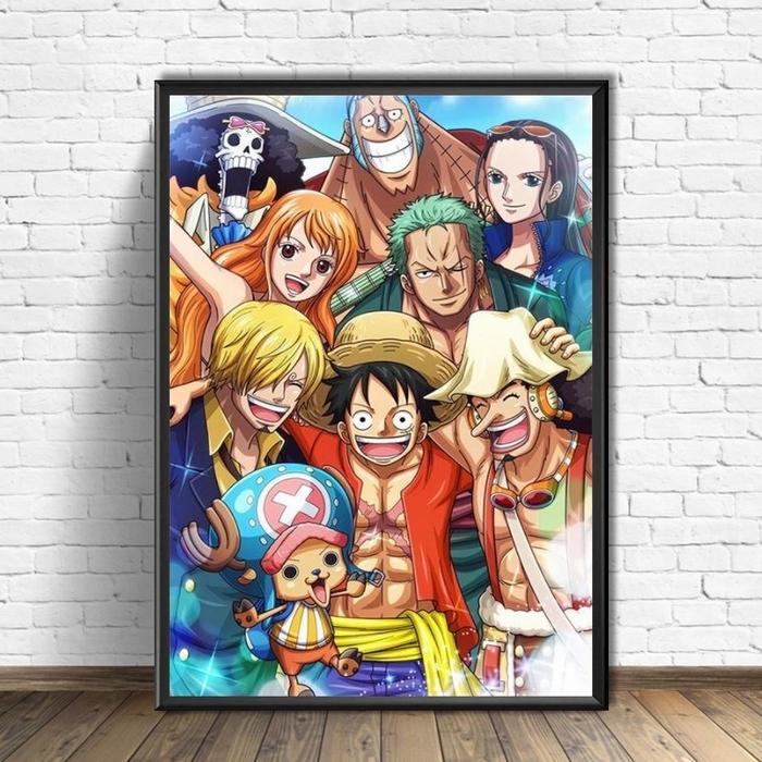 Tableau One Piece Mugiwara Happy