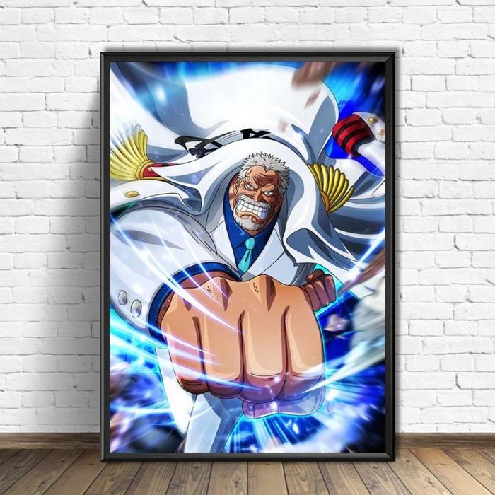 tableau toile one piece monkey garp punch 3
