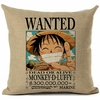 taie oreiller wanted one piece monkey luffy 1