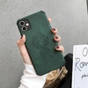 coque iphone one piece leather cuir luffy vert