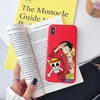 coque iphone one piece candy luffy rouge