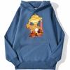 sweatshirt hoodie one piece luffy paysage bleu azur