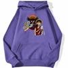 sweatshirt hoodie one piece baggy clown violet