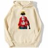 sweatshirt hoodie one piece luffy haki beige