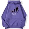 sweatshirt hoodie one piece chopper point violet