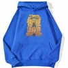 sweatshirt hoodie one piece luffy cartoon bleu