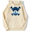 sweatshirt hoodie one piece skull merry beige