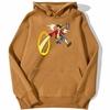 sweatshirt hoodie one piece luffy punch brun
