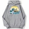 sweatshirt hoodie one piece vogue merry gris