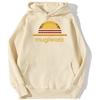 sweatshirt hoodie one piece mugiwara strawhat beige