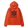 sweatshirt hoodie one piece traflagar law logo noir 1