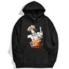 sweatshirt hoodie one piece portgas ace noir