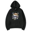 sweatshirt hoodie one piece skull noir