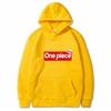 sweatshirt hoodie one piece supreme jaune