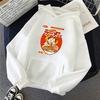 sweatshirt hoodie one piece luffy ramen blanc