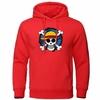 sweatshirt hoodie one piece skull strawhat rouge