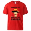 t shirt one piece protect nakama luffy rouge