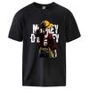 t shirt one piece monkey luffy noir