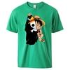 t shirt one piece monkey luffy flag vert