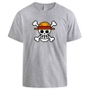 t shirt one piece logo gris