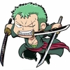 autocollant one piece mugiwara zoro