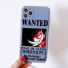 coque iphone one piece affiche wanted luffy