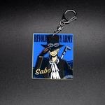 Porte-cl-s-dessin-anim-Luffy-Ace-Sabo-Zoro-Sanji-Trafalgar-en-acrylique-Double-face-sac
