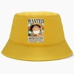 bob one piece affiche wanted luffy jaune