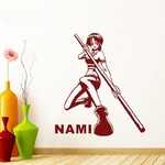 stickers mural nami 2 one piece 1