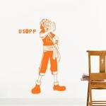 stickers mural usopp one piece 1