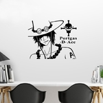 stickers mural ace face one piece 2