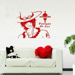 stickers mural ace face one piece 1