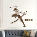 stickers mural zoro sabres 2 one piece 2