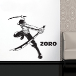 stickers mural zoro sabres 2 one piece 1