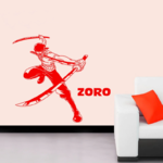 stickers mural zoro sabres 2 one piece 3