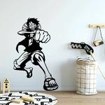 stickers mural luffy one piece