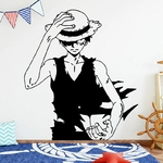 stickers mural strawhat one piece