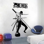 stickers mural zoro sabres one piece