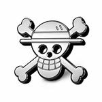 autocollant metal logo one piece 1