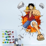 stickers mural luffy color one piece 4