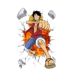 stickers mural luffy color one piece 5