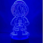 lampe 3d one piece monkey luffy kid 2 bleu 2