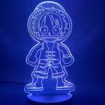 lampe 3d one piece monkey luffy kid 2 bleu